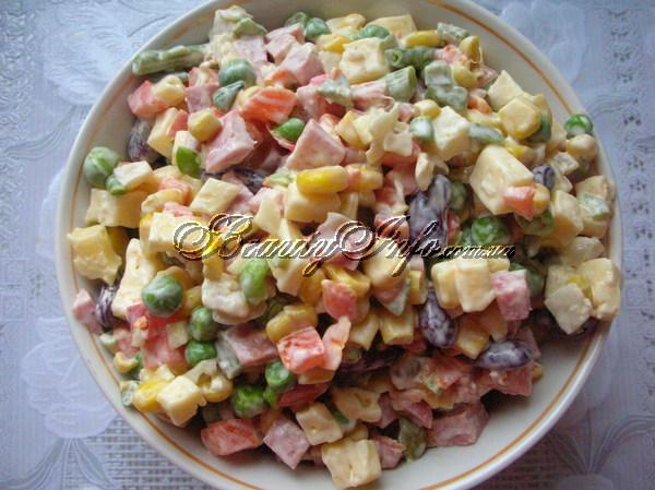 Блюда из мексиканской смеси овощей