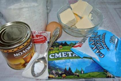 Ингредиенты для печенья с вареной сгущенкой