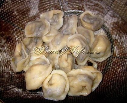 Грибные пельмени рецепт пошаговый с фото