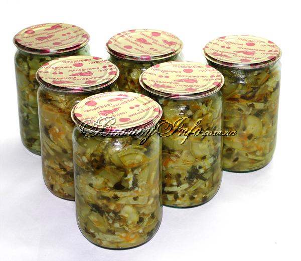 салат на зиму острый из кабачков на зиму рецепты