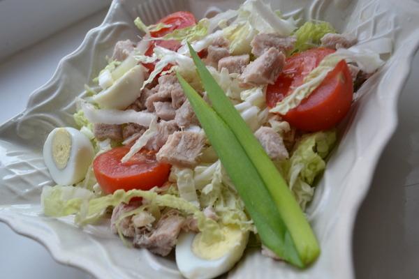 рецепт салата с пекинской капустой и свининой