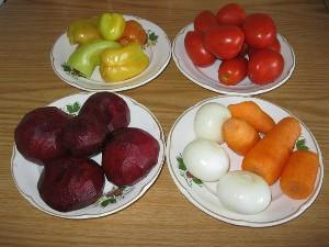 Ингредиенты заправки для борща