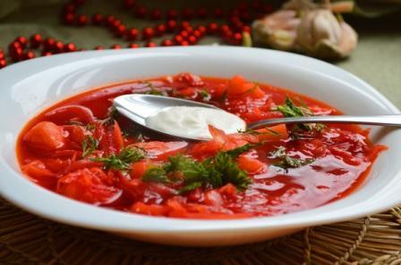 Вкусный красный борщ с курицей и свеклой рецепт с фото ...