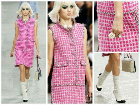 Платье шанель розовое