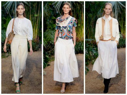 Миди-длина белых юбок располагается в топе списка модных тенденций уже не первый сезон. Струящиеся с драпировками и пышные модели в коллекции Christopher