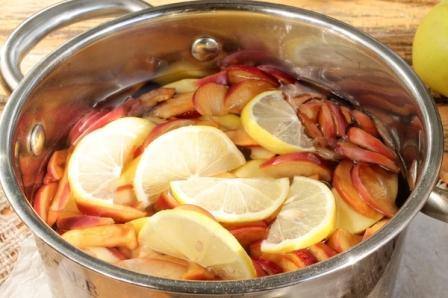 Яблочный компот на зиму с корицей