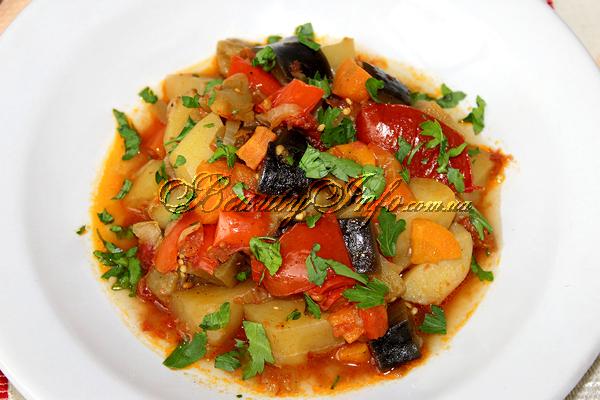 Овощное рагу с баклажанами и картофелем, рецепт