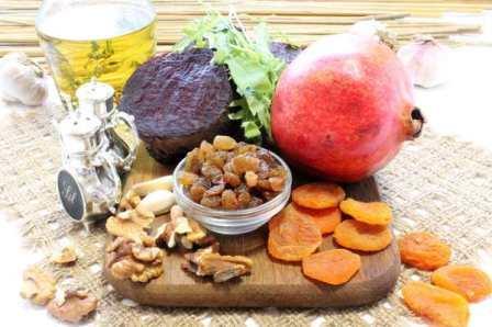 Салат с курицей черносливом яблоком и грецкими орехами и 17