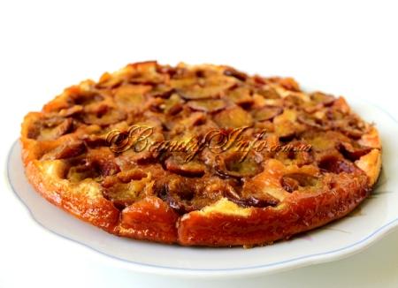 пирог со сливами перевертыш рецепт фото