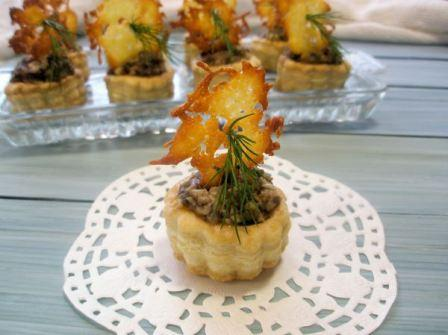 Ажурные картофельные тарталетки